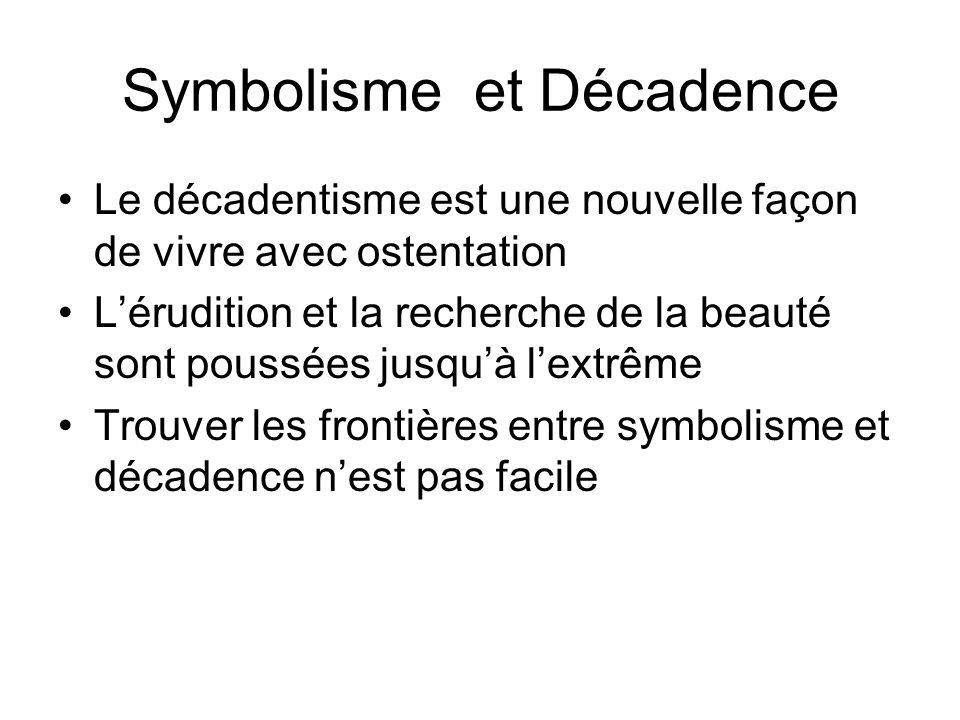 Symbolisme et Décadence