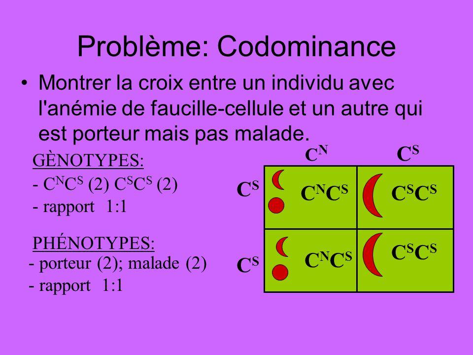 Problème: Codominance