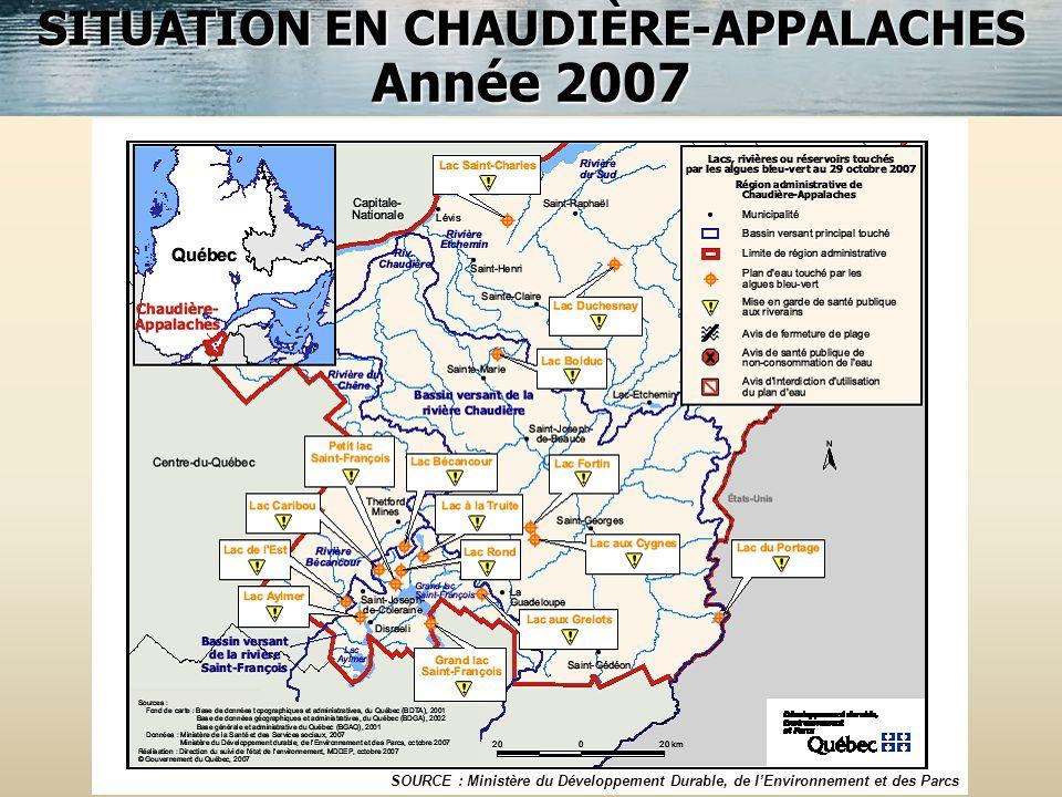 SITUATION EN CHAUDIÈRE-APPALACHES
