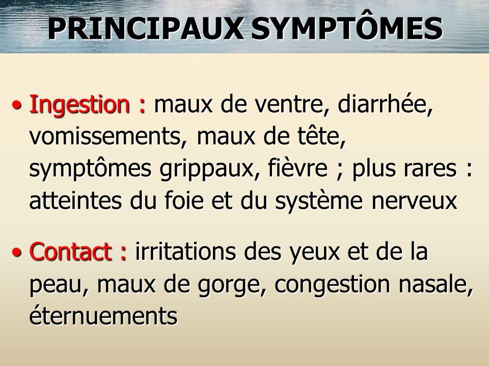 PRINCIPAUX SYMPTÔMES