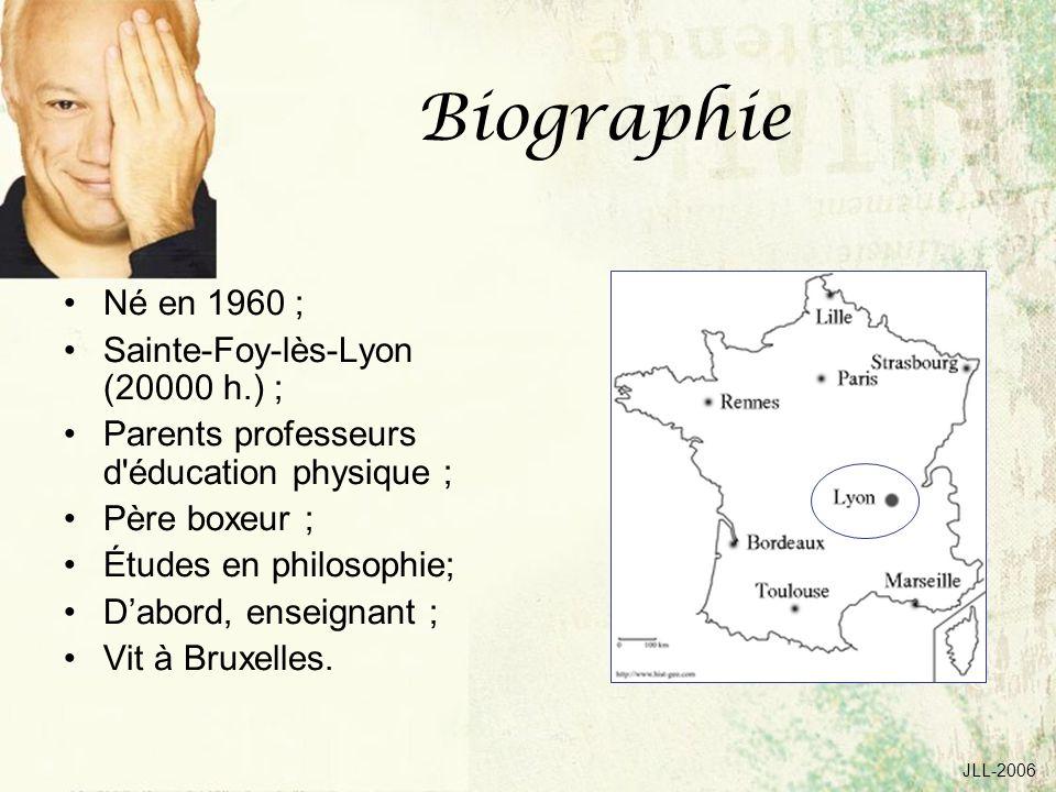 Biographie Né en 1960 ; Sainte-Foy-lès-Lyon (20000 h.) ;