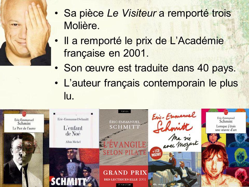 Sa pièce Le Visiteur a remporté trois Molière.