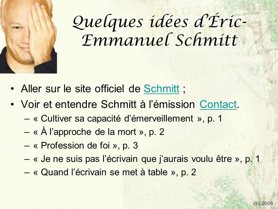 Quelques idées d'Éric-Emmanuel Schmitt