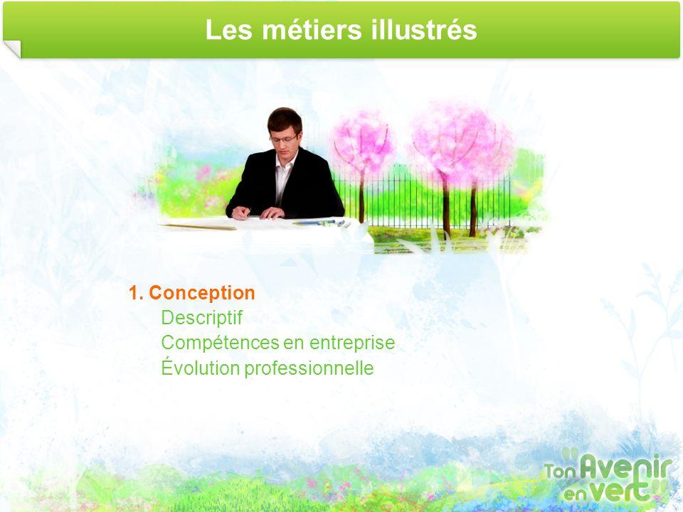 Les métiers illustrés 1. Conception Descriptif