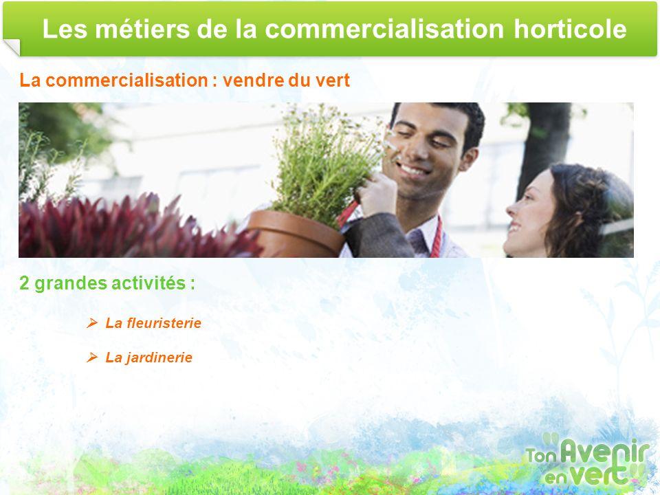 Les métiers de la commercialisation horticole