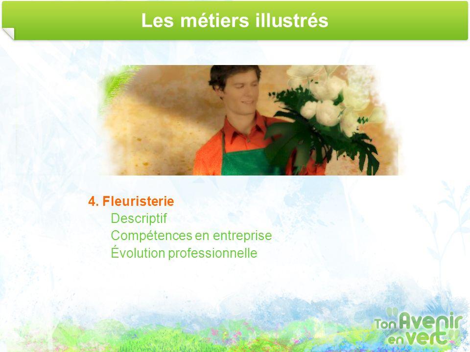 Les métiers illustrés 4. Fleuristerie Descriptif