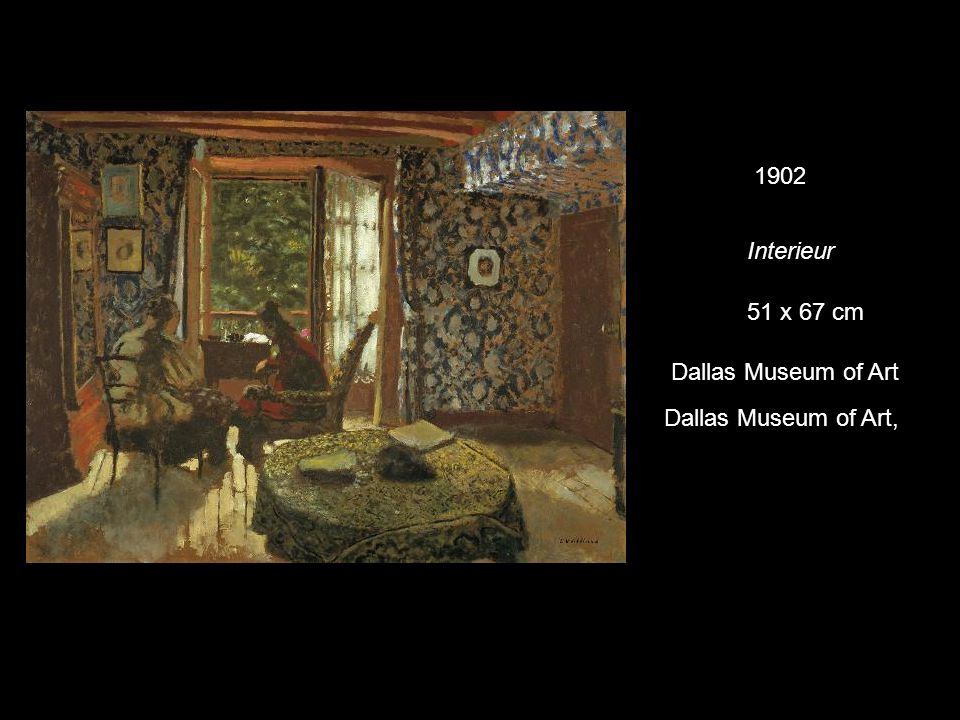1902 Interieur 51 x 67 cm Dallas Museum of Art Dallas Museum of Art,