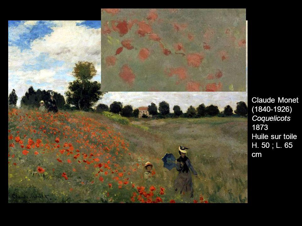 Claude Monet (1840-1926) Coquelicots 1873 Huile sur toile H. 50 ; L