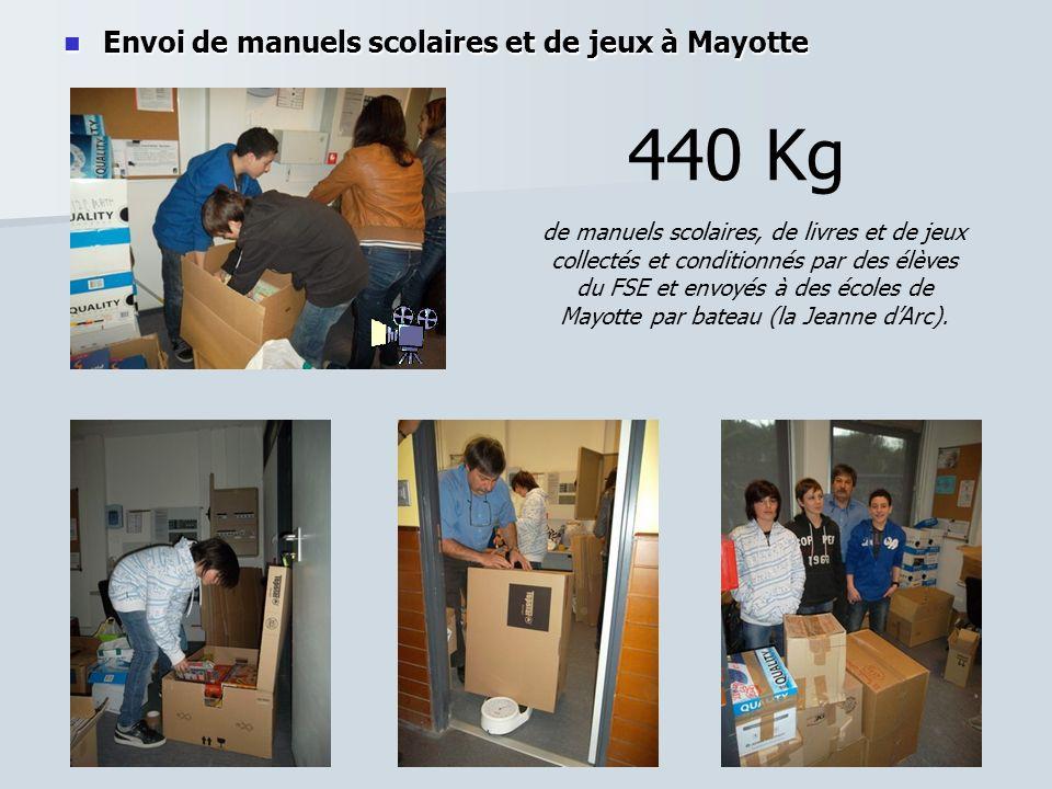 440 Kg Envoi de manuels scolaires et de jeux à Mayotte
