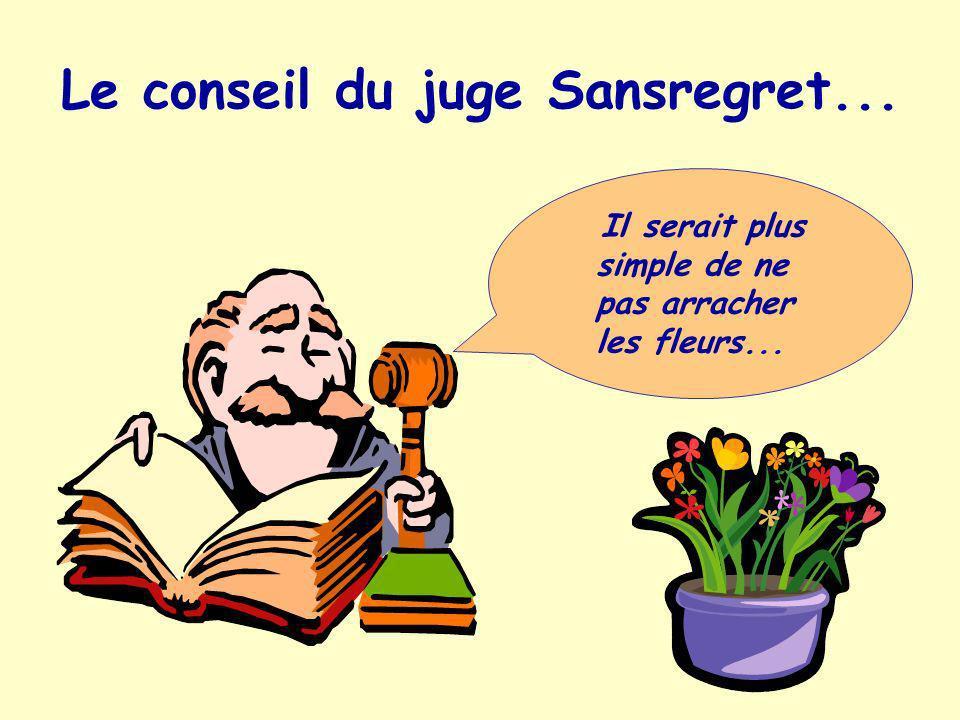 Le conseil du juge Sansregret...