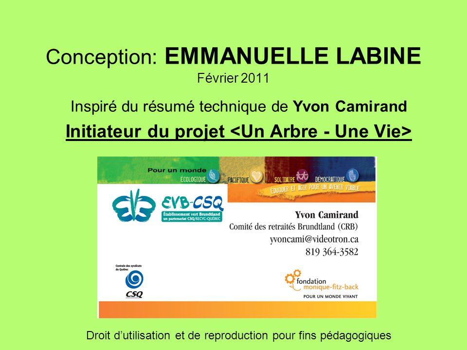 Conception: EMMANUELLE LABINE Février 2011