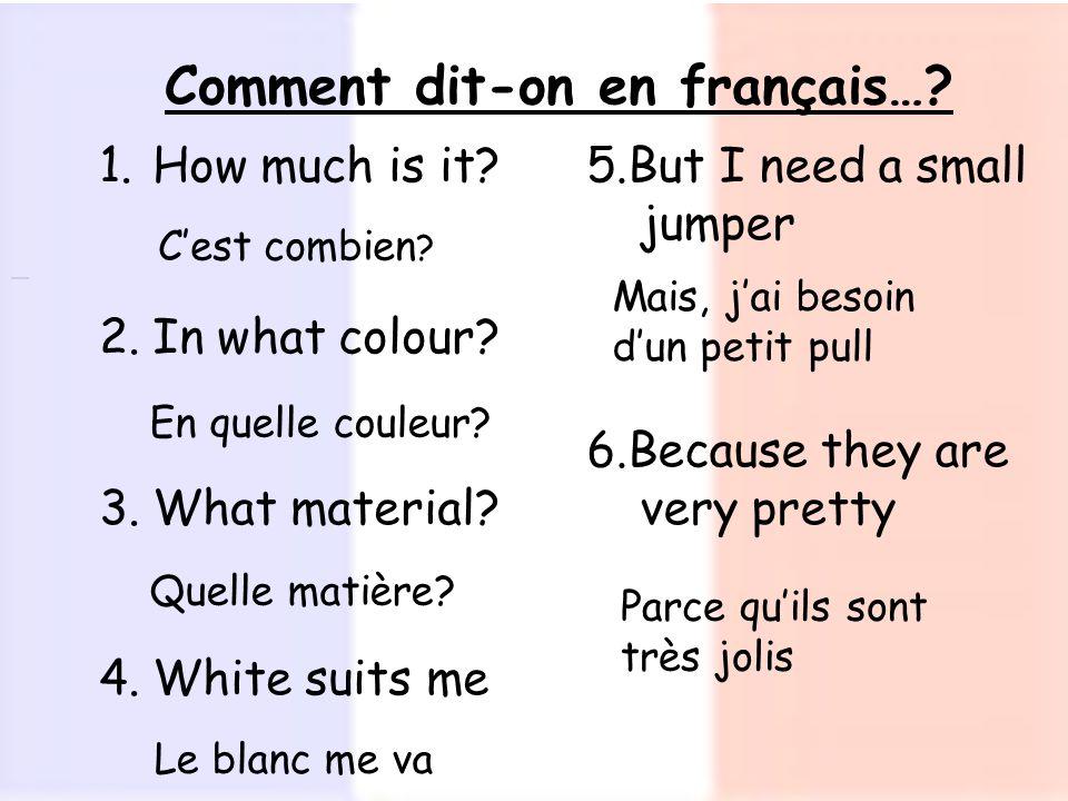 Comment dit-on en français…