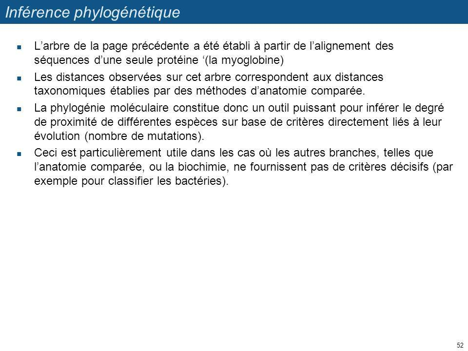 Inférence phylogénétique