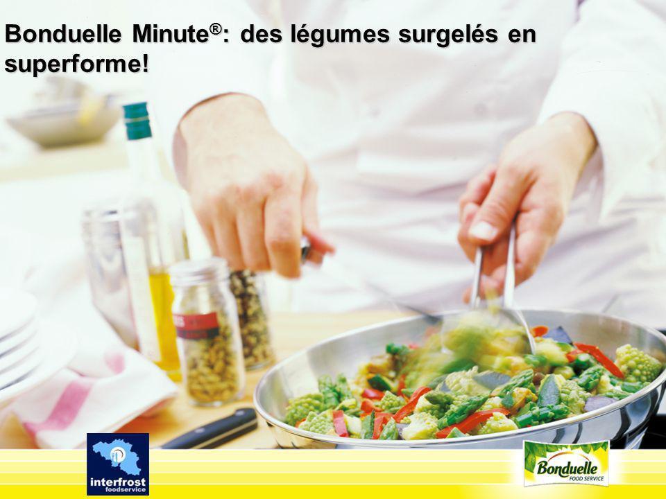 Bonduelle Minute®: des légumes surgelés en superforme!