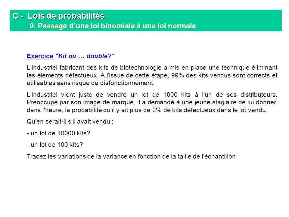 C -. Lois de probabilités 9