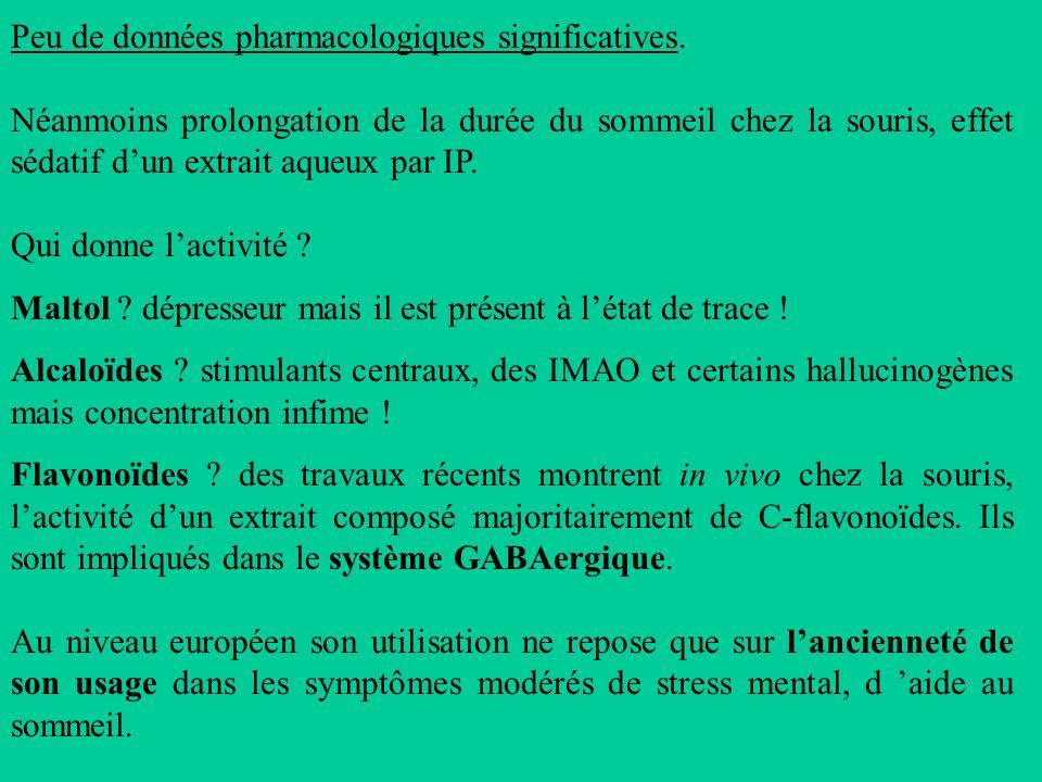 Peu de données pharmacologiques significatives.