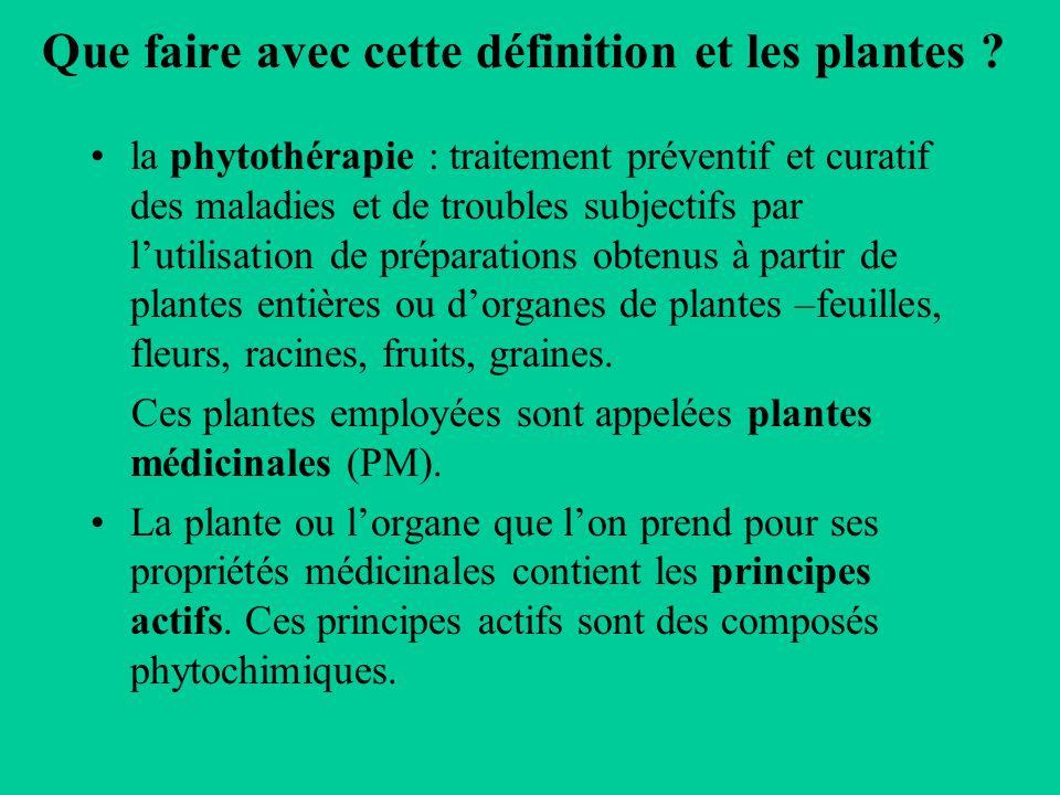 Que faire avec cette définition et les plantes