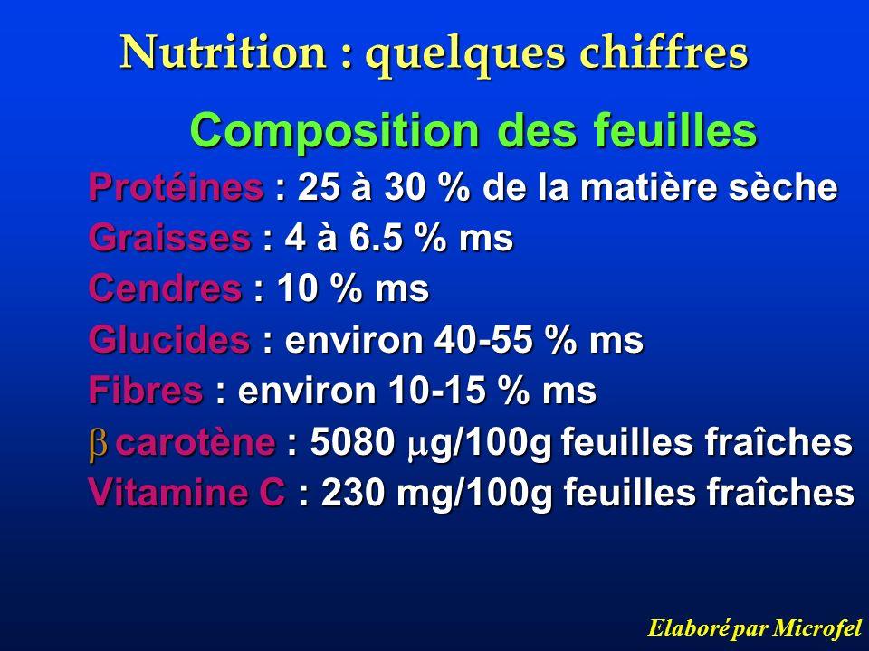 Nutrition : quelques chiffres