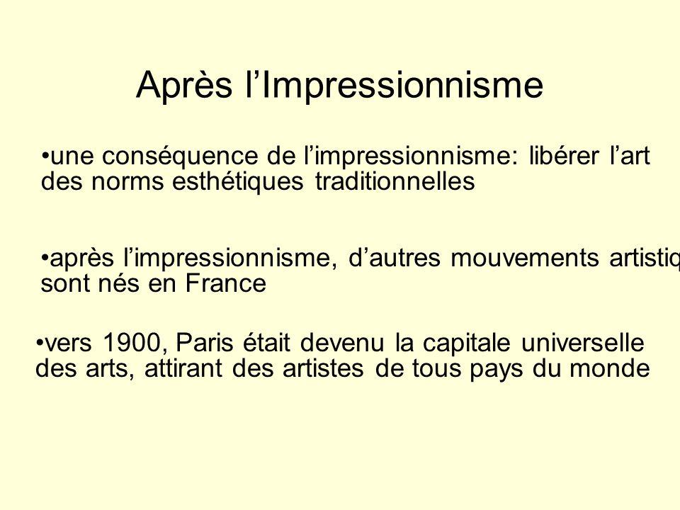 Après l'Impressionnisme
