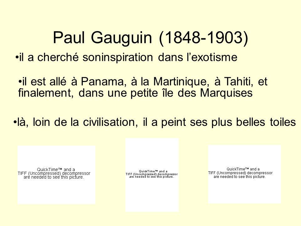 Paul Gauguin (1848-1903) il a cherché soninspiration dans l'exotisme