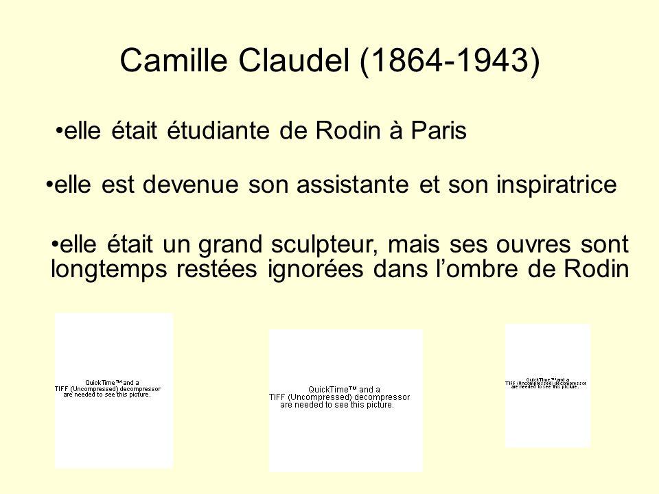 Camille Claudel (1864-1943) elle était étudiante de Rodin à Paris