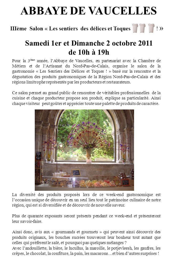 IIIème Salon « Les sentiers des délices et Toques ! »