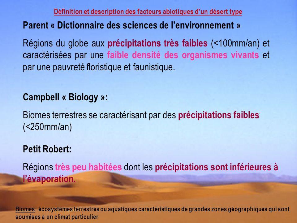 Parent « Dictionnaire des sciences de l'environnement »