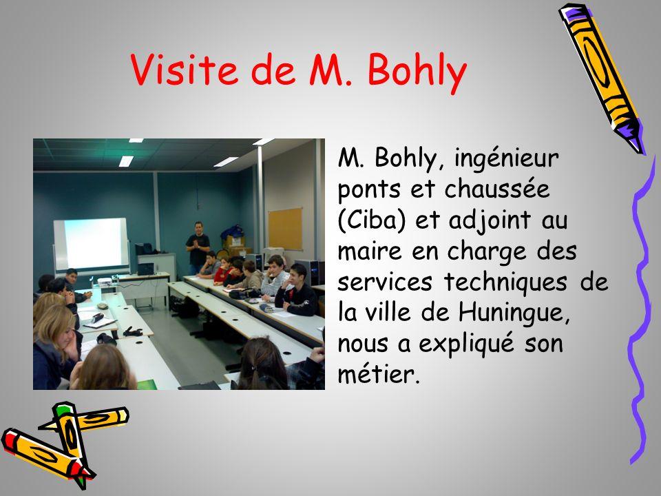 Visite de M. Bohly