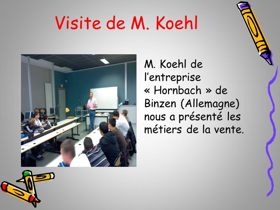Visite de M. Koehl M.