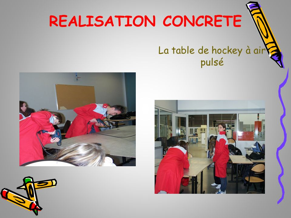 La table de hockey à air pulsé