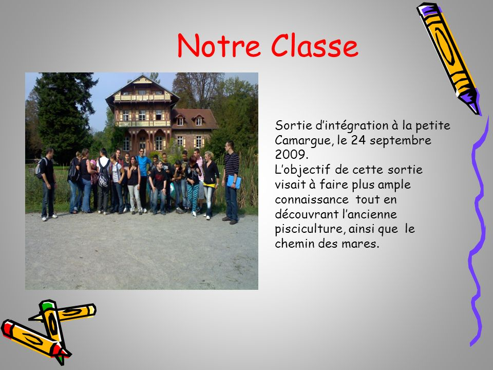 Notre Classe Sortie d'intégration à la petite Camargue, le 24 septembre 2009.