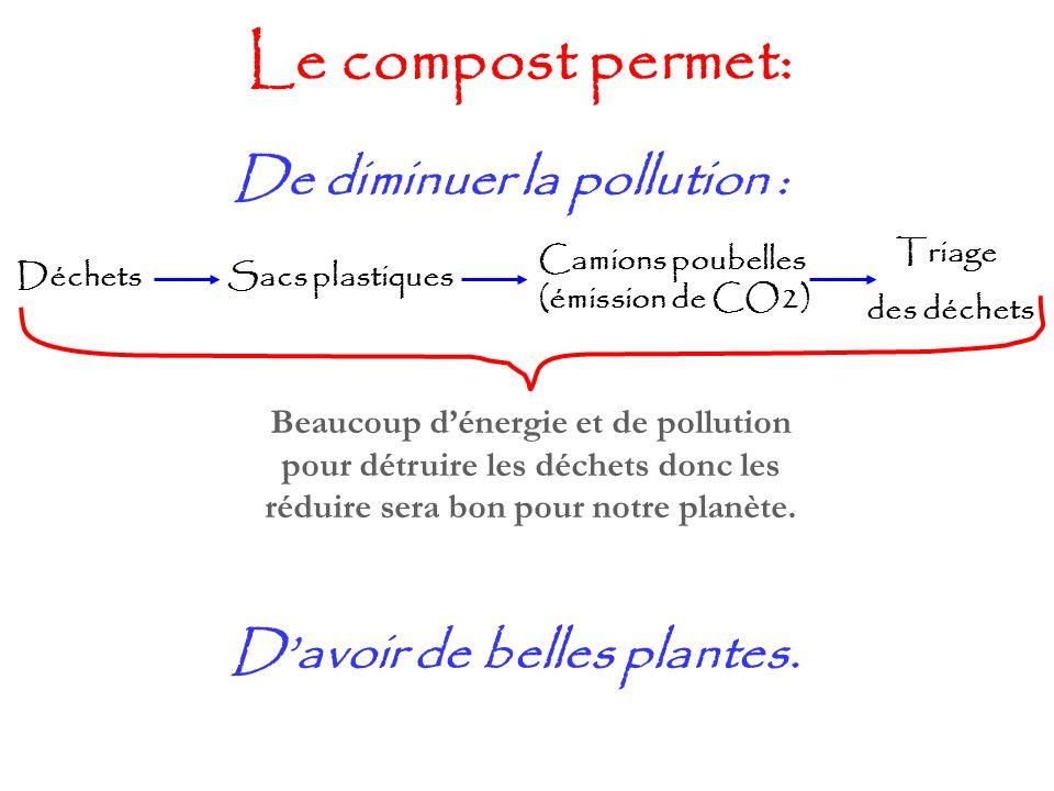 De diminuer la pollution : D'avoir de belles plantes.