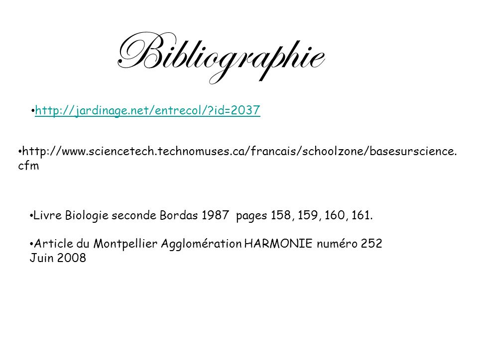 Bibliographie http://jardinage.net/entrecol/ id=2037