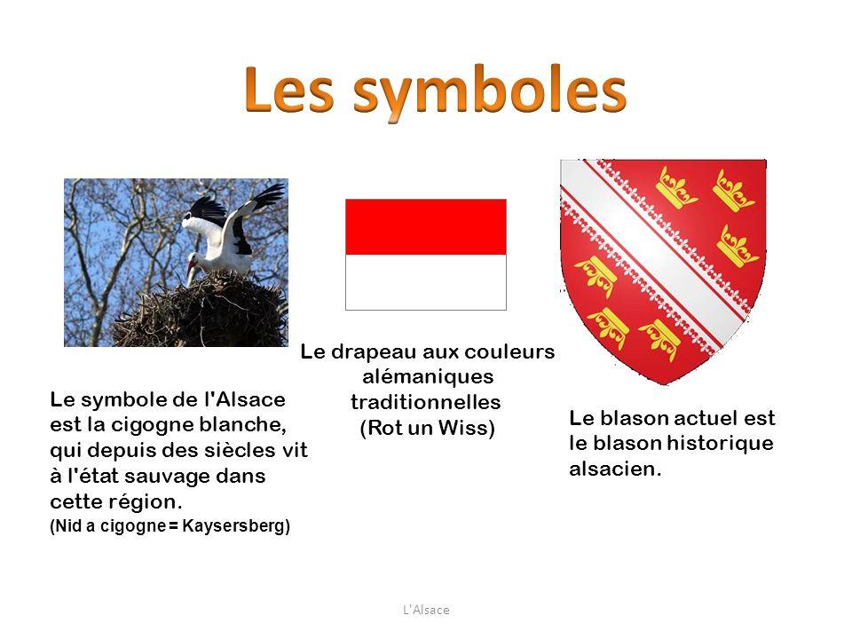 Le drapeau aux couleurs alémaniques traditionnelles