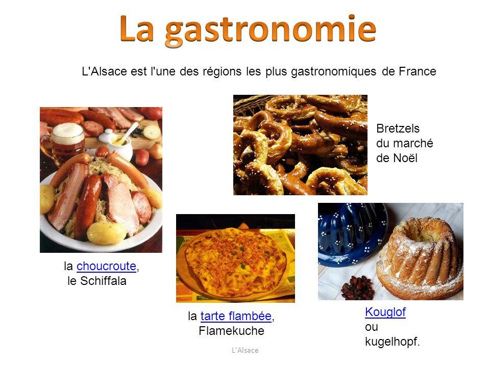 La gastronomie L Alsace est l une des régions les plus gastronomiques de France. Bretzels. du marché de Noël.