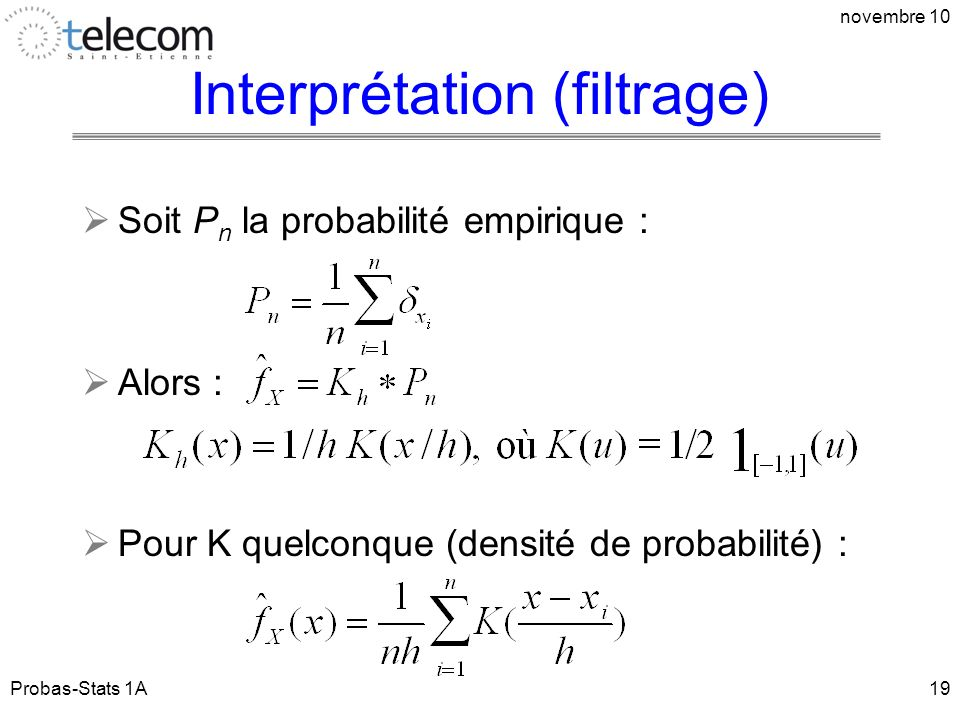 Interprétation (filtrage)