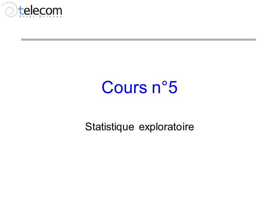 Statistique exploratoire
