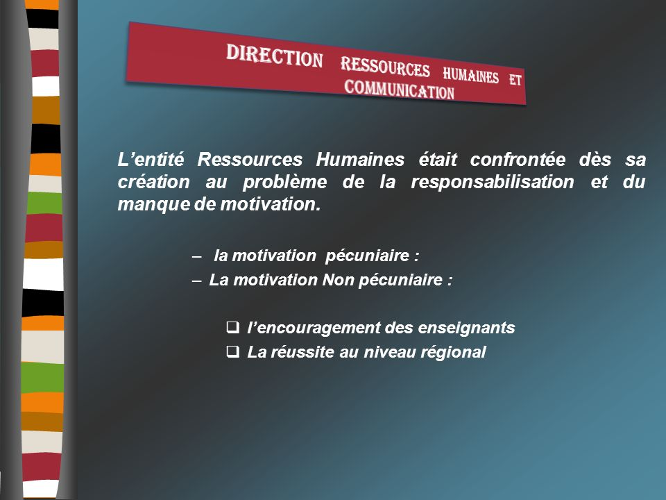 Direction ressources humaines et communication
