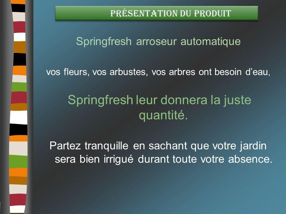 Springfresh arroseur automatique
