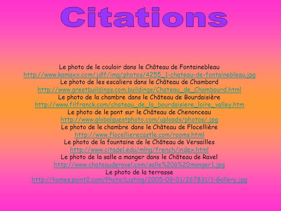 Citations Le photo de le couloir dans le Château de Fontainebleau