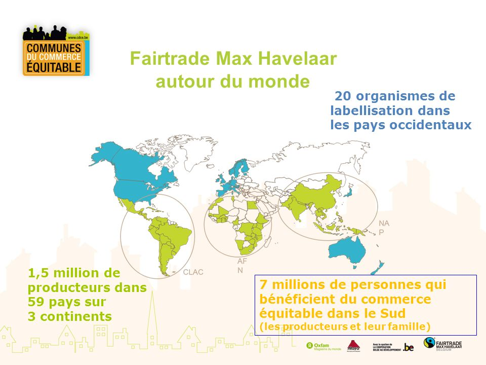 Fairtrade Max Havelaar autour du monde