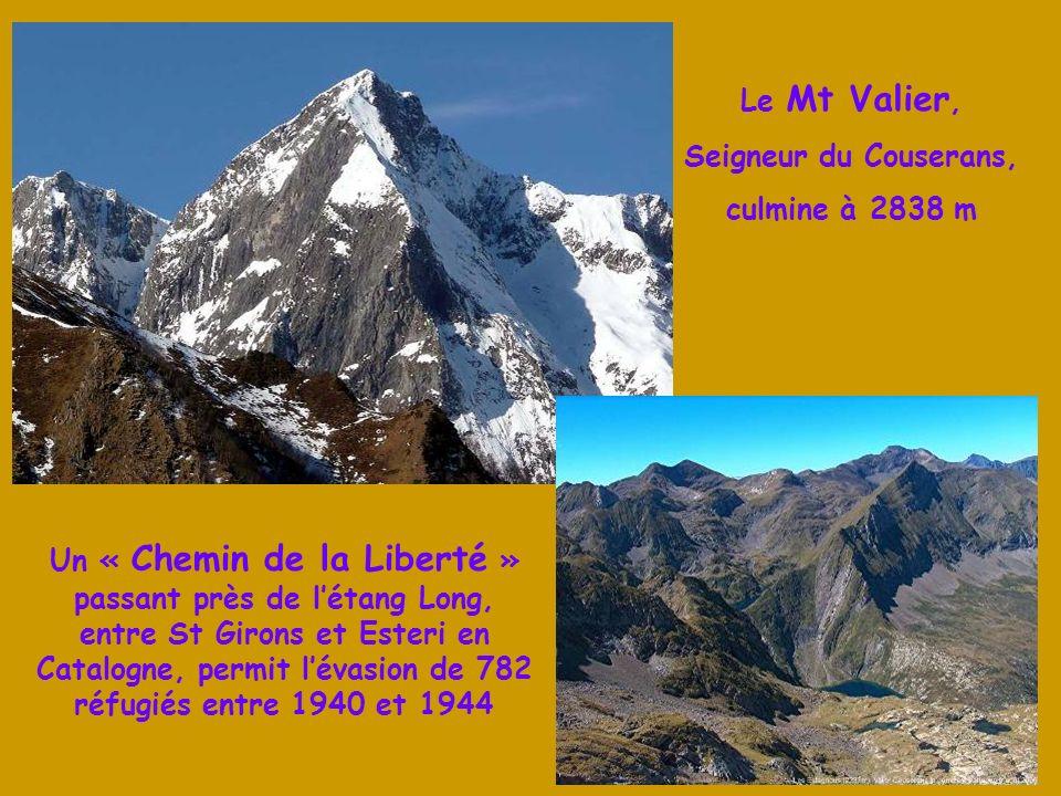 Le Mt Valier, Seigneur du Couserans, culmine à 2838 m.