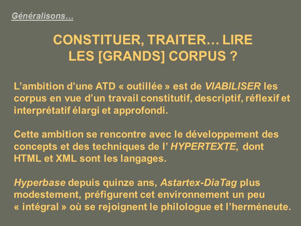 CONSTITUER, TRAITER… LIRE