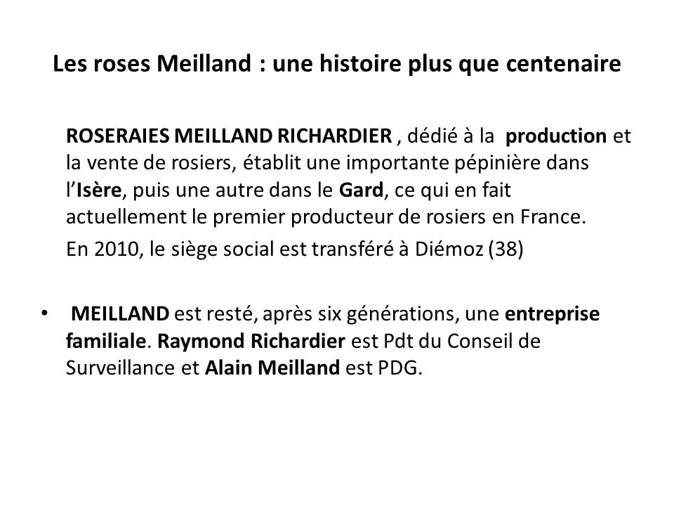 le groupe meilland et meilland richardier un monde de roses ppt video online t l charger. Black Bedroom Furniture Sets. Home Design Ideas