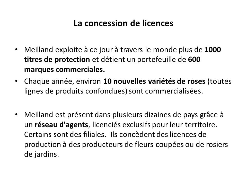 La concession de licences