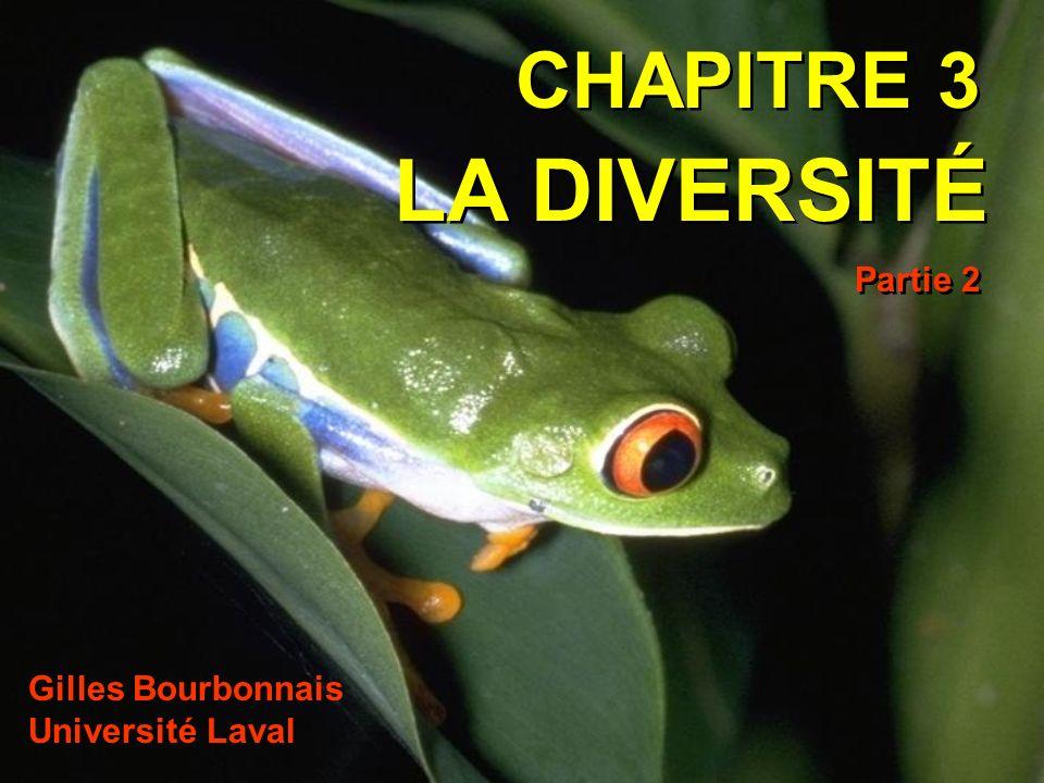 CHAPITRE 3 LA DIVERSITÉ Partie 2 Gilles Bourbonnais Université Laval