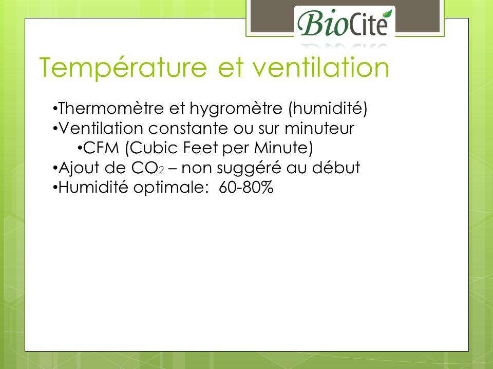 Température et ventilation