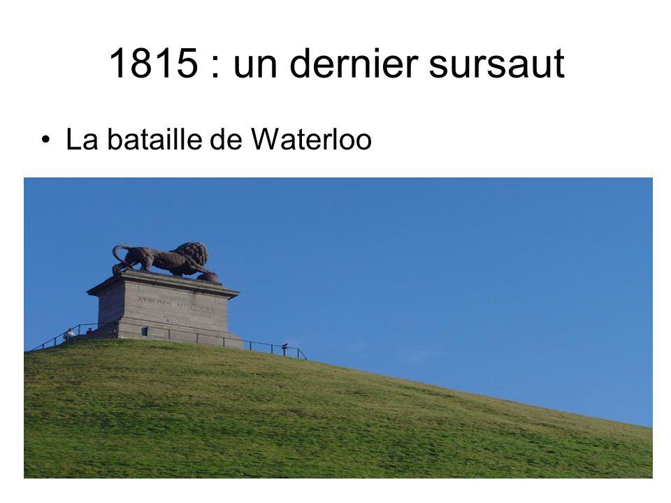 1815 : un dernier sursaut La bataille de Waterloo