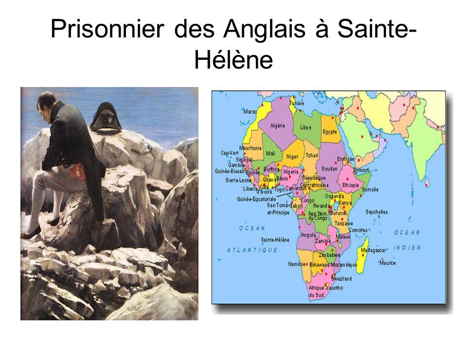 Prisonnier des Anglais à Sainte-Hélène