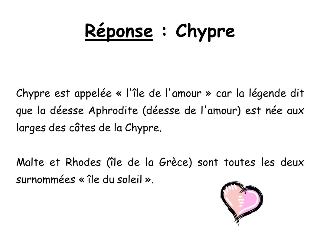 Réponse : Chypre